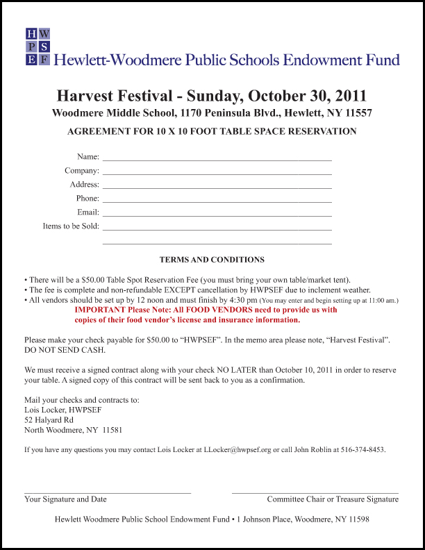 Hewlett-Woodmere Public Schools Endowment Fund - Fall Harvest Festival